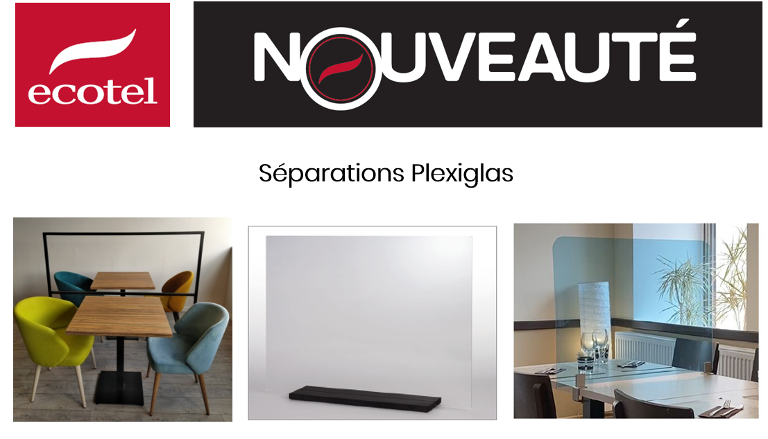 SÉPARATEURS de table en PLEXIGLAS